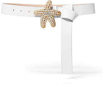 Michael Kors Starfish-Buckle Narrow Belt