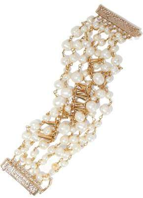 Rosantica Rosantica Woman Gold-plated Freshwater Pearl Bracelet Gold Size JaBLxI