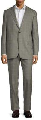 Hickey Freeman 2-Piece Wool Check Suit