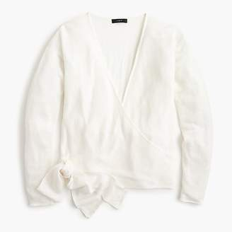 J.Crew Linen wrapped cardigan sweater