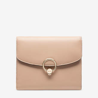 Bally Lapril Neutral, Women's plain calf leather wallet in skin