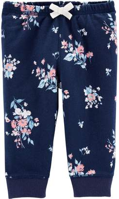 Carter's Baby Girl Floral French Terry Pants