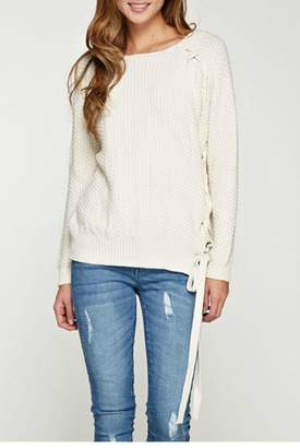 Love Stitch Lovestitch Waffle Knit Sweater