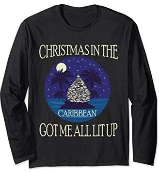 Unisex Christmas in the Caribbean Got Me All Lit Up Xmas tshirts Small