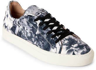 N. Supply Lab Mason Printed Canvas Low-Top Sneakers