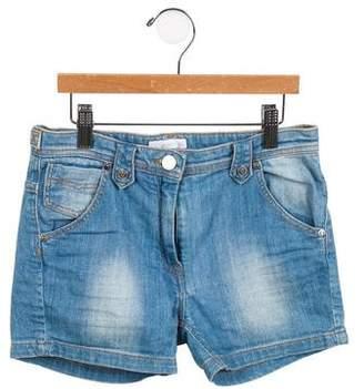 Burberry Girls' Five Pocket Denim Shorts