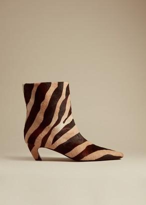 KHAITE The Ankle Boot in Zebra Haircalf