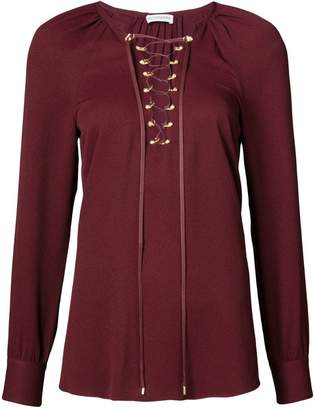Altuzarra laced front blouse