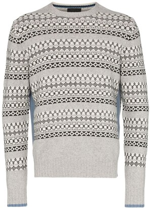 Prada jacquard knitted sweater