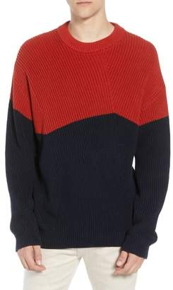 French Connection Asymmetrical Colorblock Sweater