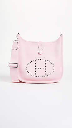 Hermes What Goes Around Comes Around Pink Clemence Evelyne III PM Bag