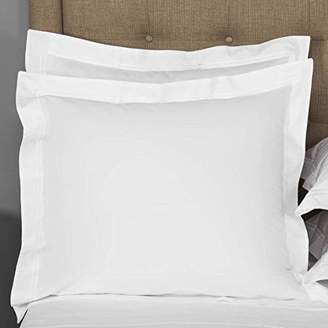European Square Pillow Shams Set of 2 White 600 Thread Count 100% Natural Cotton pack of Two Euro 26 x 26 Pillow shams Cushion Cover