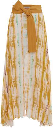 Silvia Tcherassi Blanche Watercolor Midi Apron Skirt