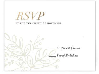 Graceful Foil-Pressed RSVP Cards