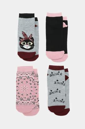 Ardene Cat Ankle Socks