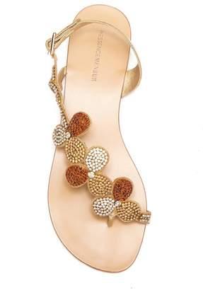Menbur Gunmiel Crystal Embellished Flat Sandal