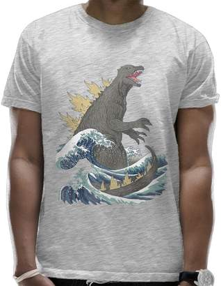 The Great Romantic Fish Wave Off Kanagaw T Shirts for Men Graphic On Back Summer Pattern Top Cartoon