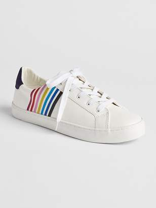 Gap Mix-Fabric Lace-Up Sneakers