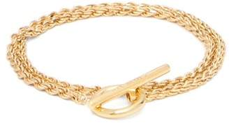 All Blues - Double Rope Chain 18kt Gold Plated Bracelet - Mens - Gold
