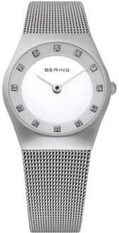 Swarovski BERING Classic Analog Silvertone Crystal Watch
