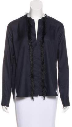 Helmut Lang Silk Long Sleeve Blouse