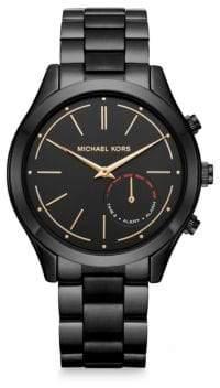 Michael Kors AccessSlim Runway Black IP Stainless Steel Hybrid Smartwatch