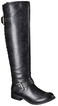 Mossimo Women's Kayce Tall Boots with Back Studs - Black