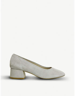 Office Maze Soft Topline suede block-heeled courts