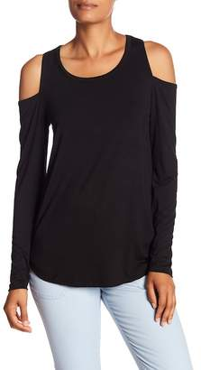 Chaser Cold Shoulder Long Sleeve Tee