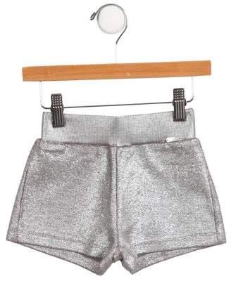 Junior Gaultier Girls Metallic Knit Shorts w/ Tags