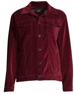 Hudson Velvet Trucker Jacket