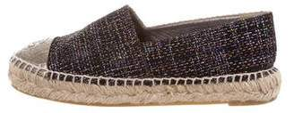 Chanel 2016 Tweed Espadrille Flats