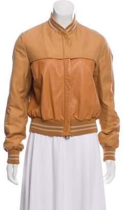 Akris Leather Bomber Jacket
