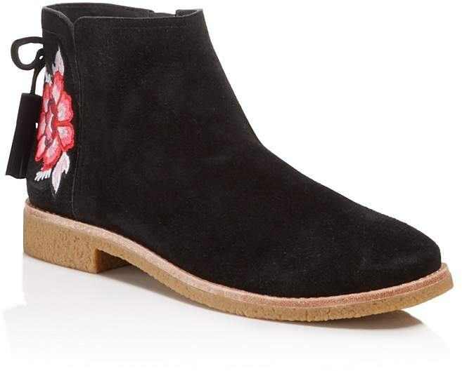 Kate Spadekate spade new york Bellville Embroidered Suede Booties