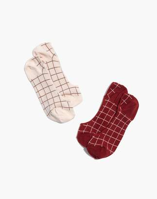 Madewell Two-Pack Grid Low-Profile Socks