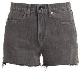Rag & Bone Rag& Bone Women's Sophia Side Zip Cut Off Denim Shorts - Shadow - Size 24 (0)