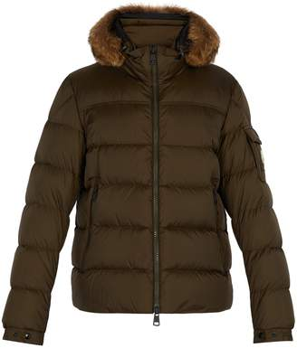 Moncler Marque fur-trimmed down jacket