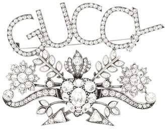 Gucci Guccy embellished brooch