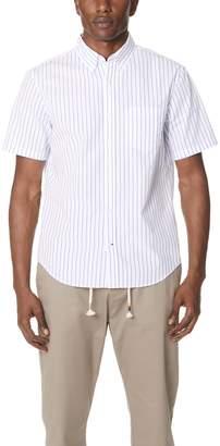 Club Monaco Short Sleeve Stripe Shirt