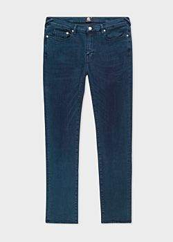 Paul Smith Men's Slim-Fit 'Reflex Super Stretch' Navy Over-Dye Jeans