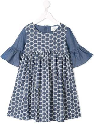 Charabia dot pattern casual dress