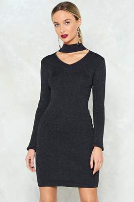 Nasty Gal I Know Where Knit's At Glitter Sweater Dress