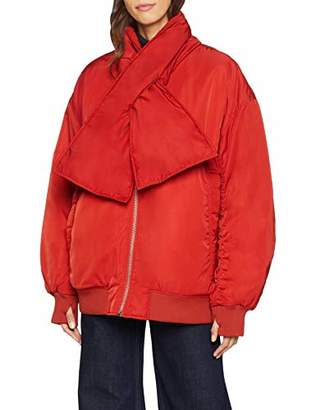Cheap Monday Women's Agent Bomber Jacket, Brilliant Red, (Size: M)