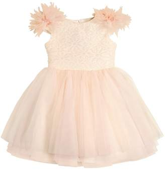Organza & Stretch Tulle Party Dress