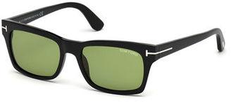 TOM FORD Frederick Acetate Rectangular Sunglasses $380 thestylecure.com