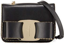 Salvatore Ferragamo Vara Rainbow Studded Leather Shoulder Bag