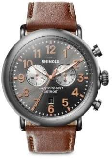 Shinola Runwell Chronograph Leather Strap Watch