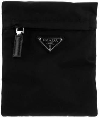 Prada Bags Nylon Bag With Classic Triangular Logo By And Zip