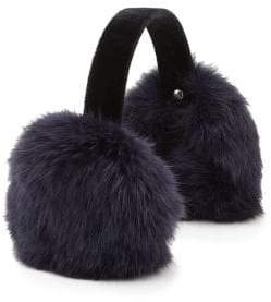Surell Girl's Rabbit Fur& Velvet Earmuffs