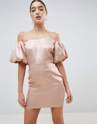 Missguided Puff Sleeve Dress